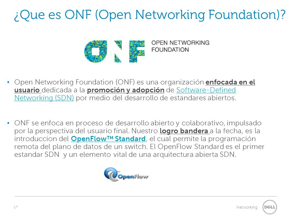 ¿Que es ONF (Open Networking Foundation)