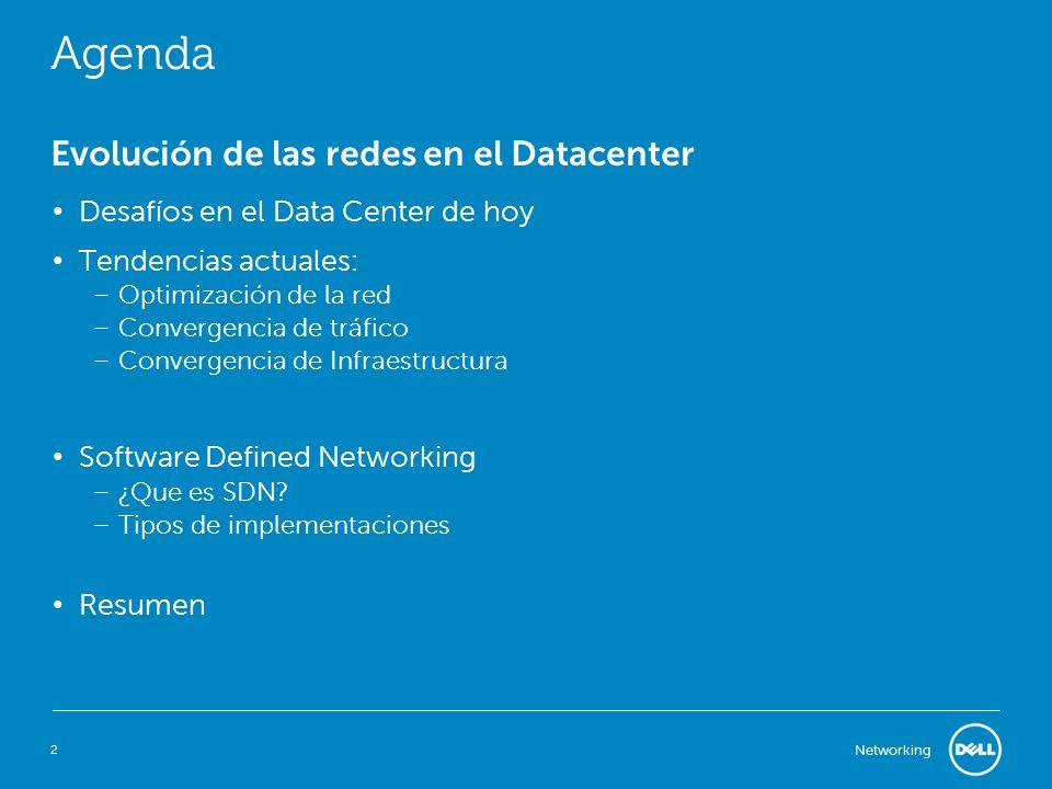 Agenda Evolución de las redes en el Datacenter