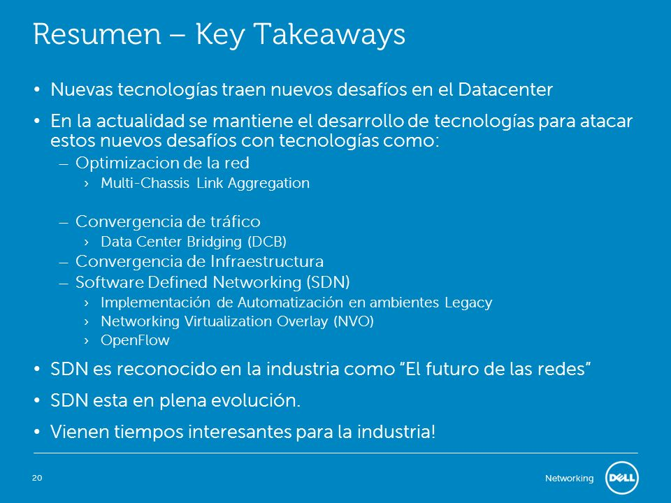 Resumen – Key Takeaways