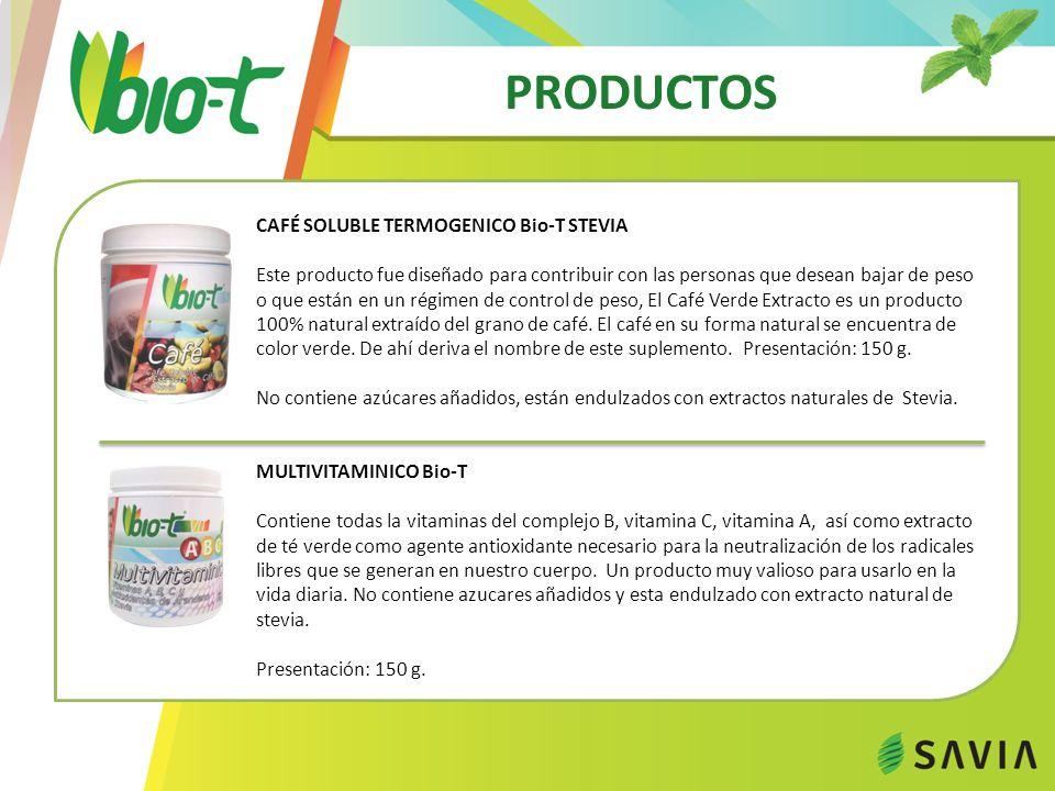 PRODUCTOS CAFÉ SOLUBLE TERMOGENICO Bio-T STEVIA