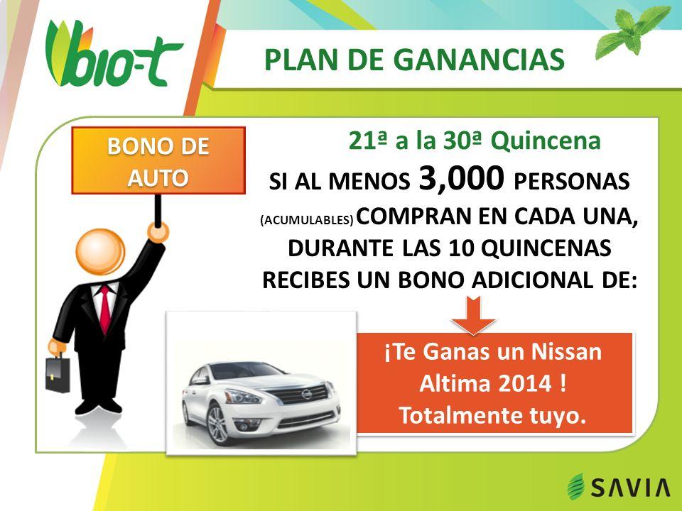 ¡Te Ganas un Nissan Altima 2014 !