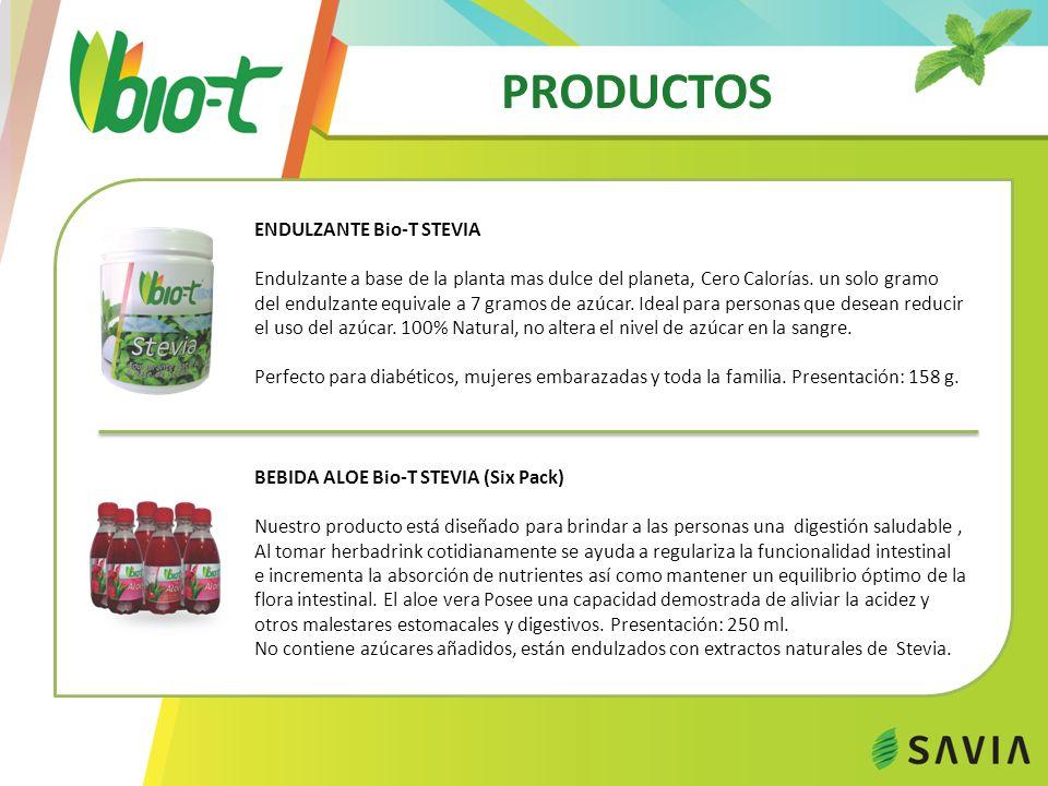 PRODUCTOS ENDULZANTE Bio-T STEVIA