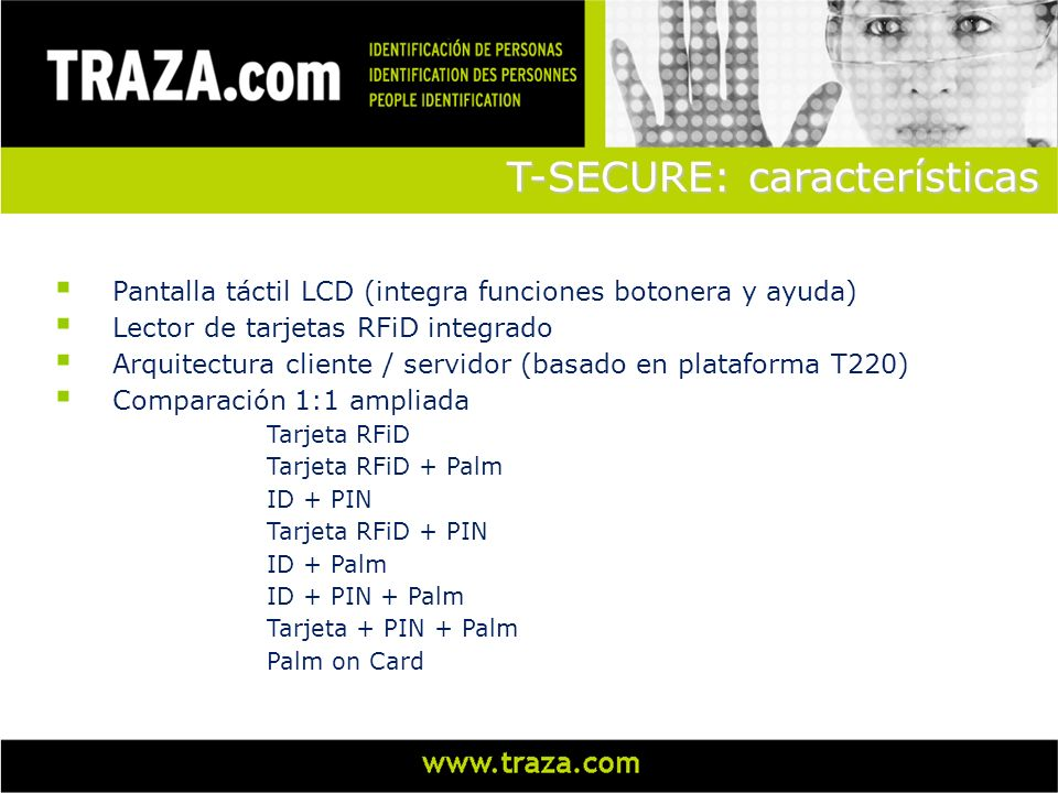 T-SECURE: características