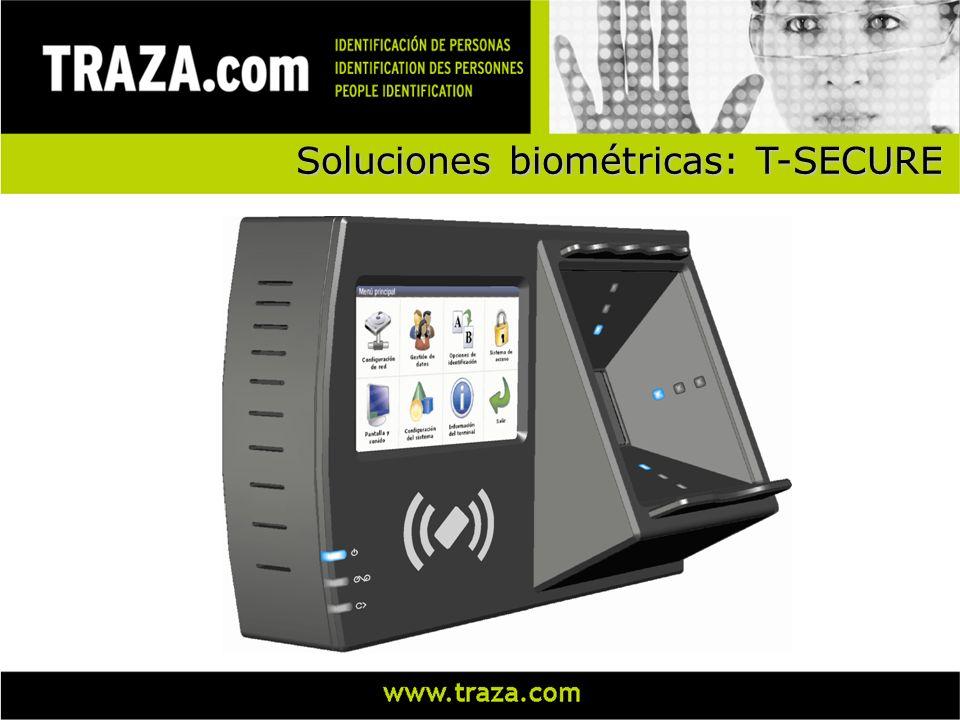 Soluciones biométricas: T-SECURE