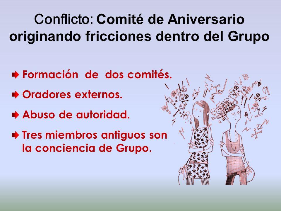 Conflicto: Comité de Aniversario originando fricciones dentro del Grupo
