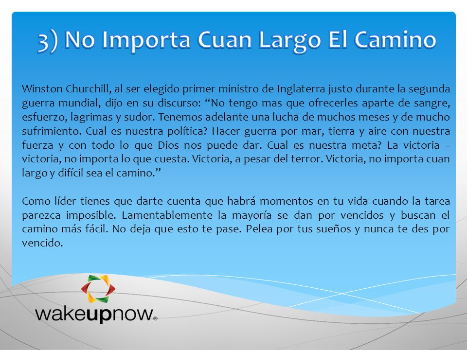 3) No Importa Cuan Largo El Camino