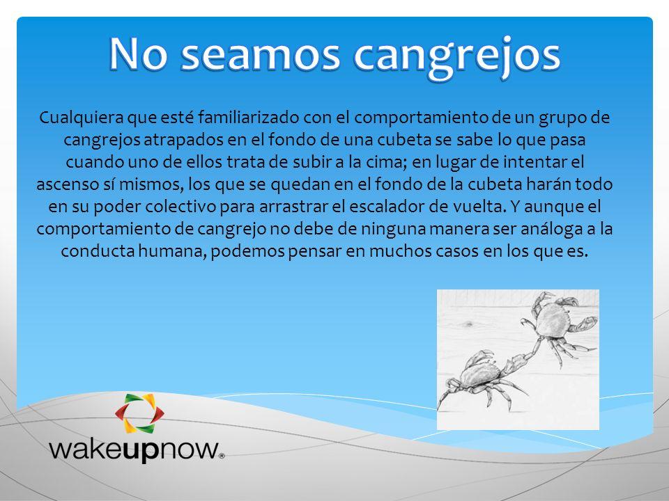 No seamos cangrejos