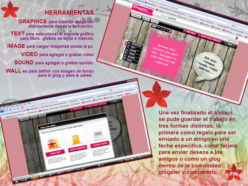 HERRAMIENTAS GRAPHICS para insertar imágenes directamente desde la aplicación.