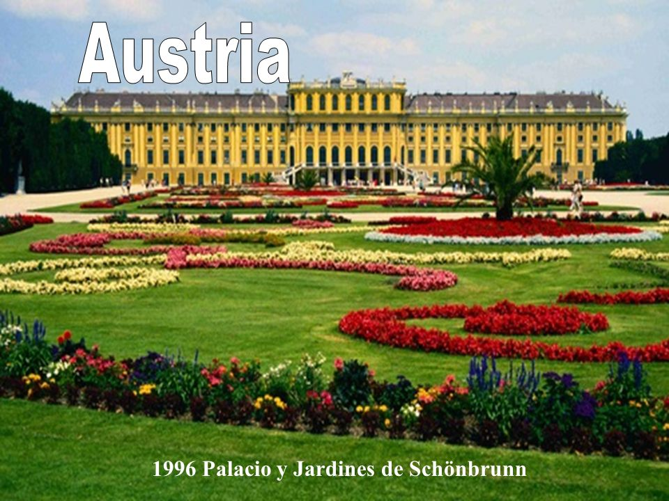 Austria 1996 Palacio y Jardines de Schönbrunn