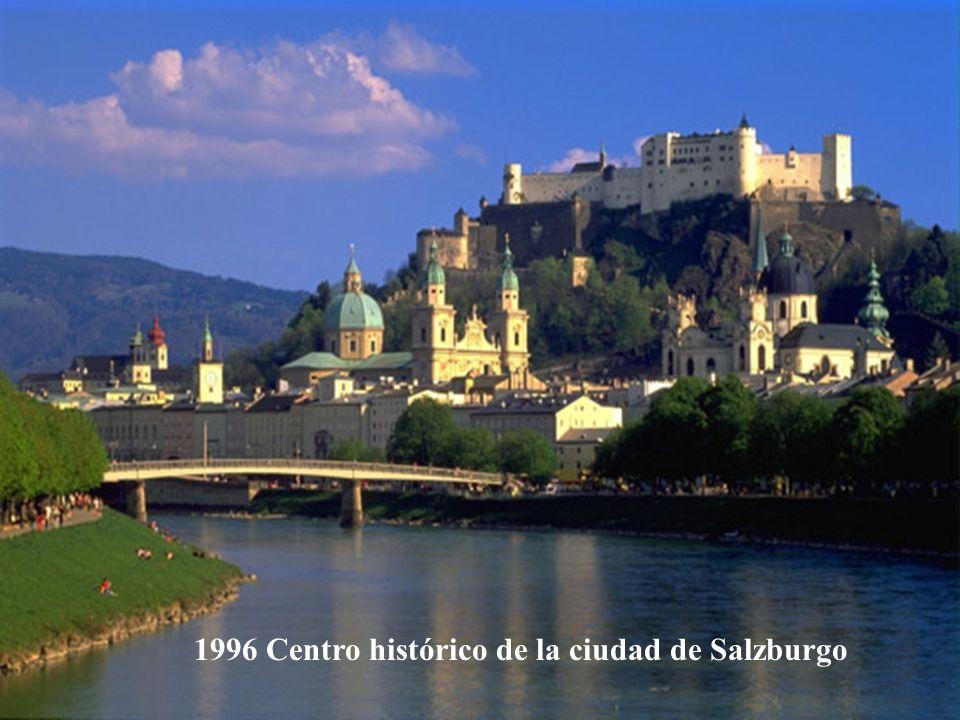 1996 Centro histórico de la ciudad de Salzburgo