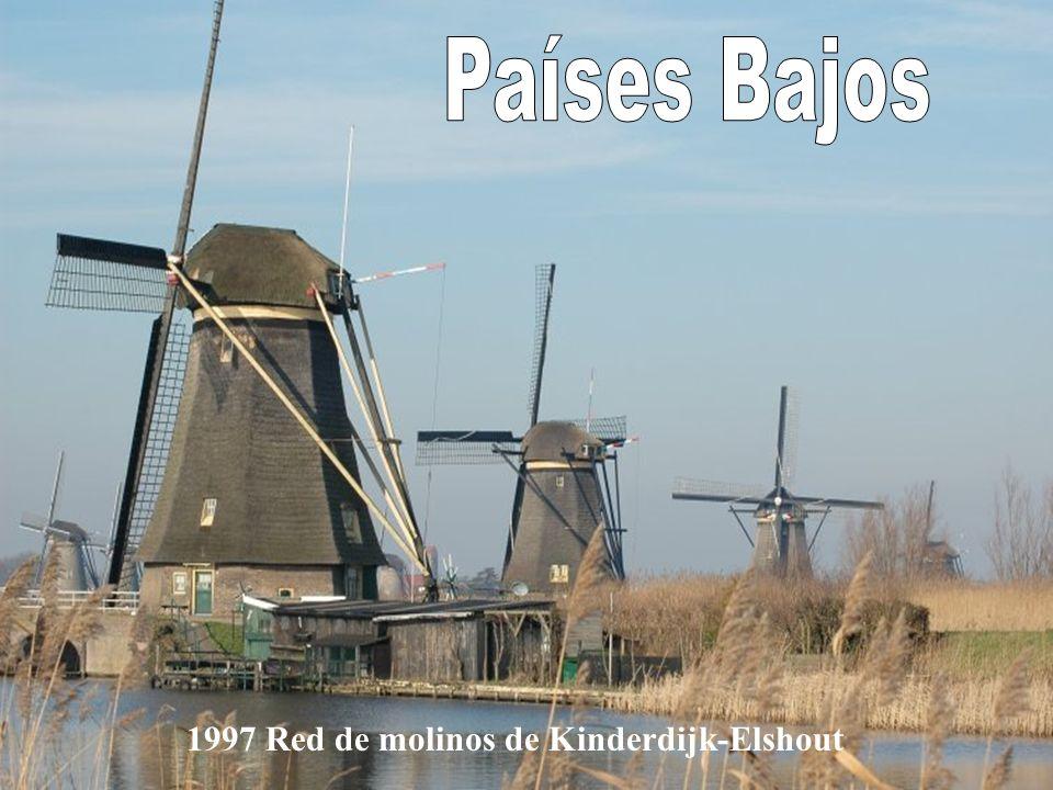 Países Bajos 1997 Red de molinos de Kinderdijk-Elshout