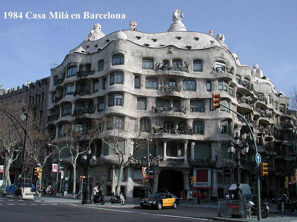 1984 Casa Milá en Barcelona