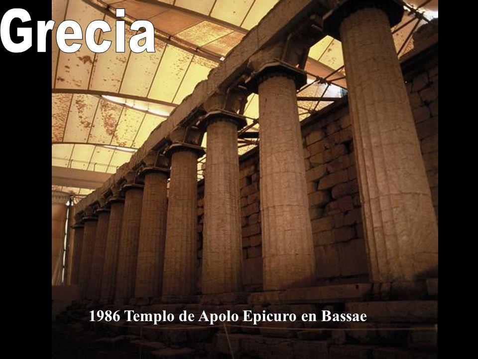 Grecia 1986 Templo de Apolo Epicuro en Bassae
