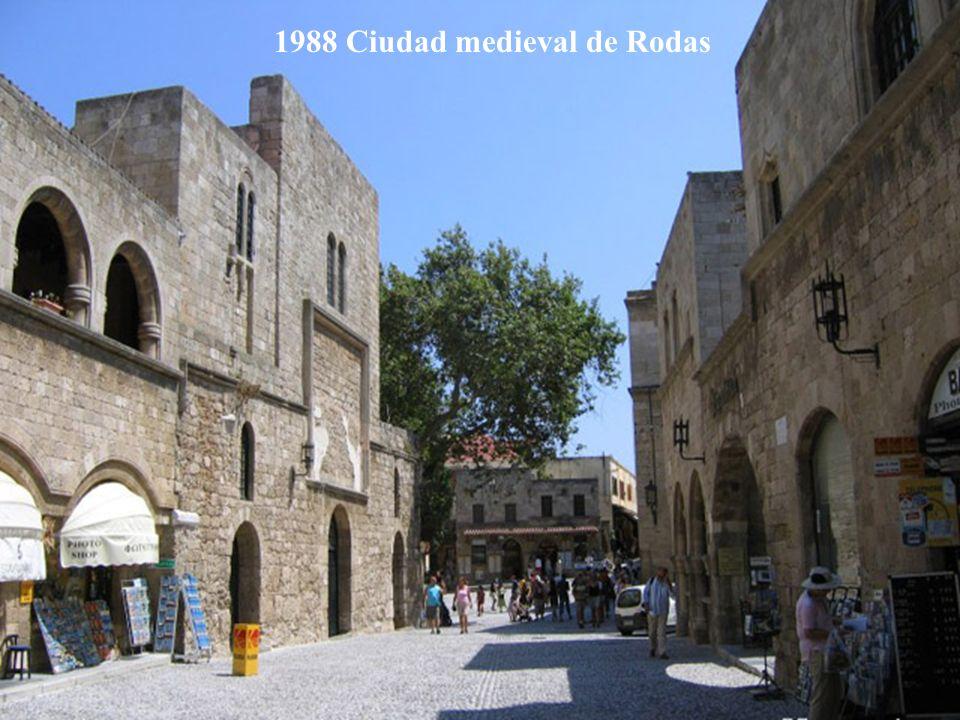 1988 Ciudad medieval de Rodas