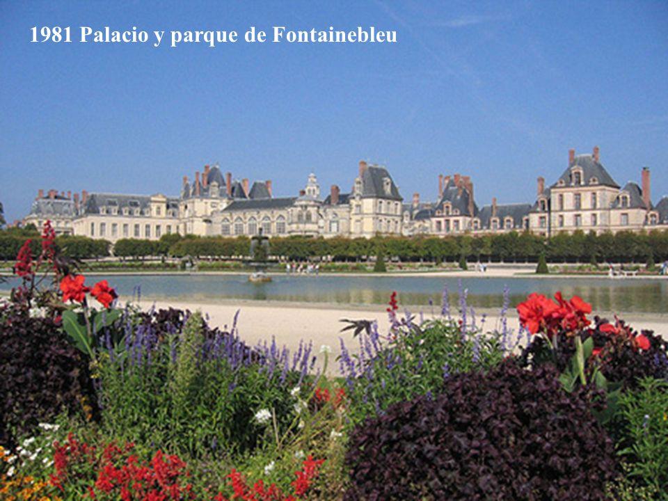1981 Palacio y parque de Fontainebleu