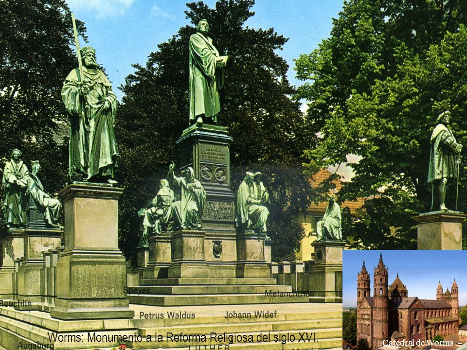 Worms: Monumento a la Reforma Religiosa del siglo XVI.