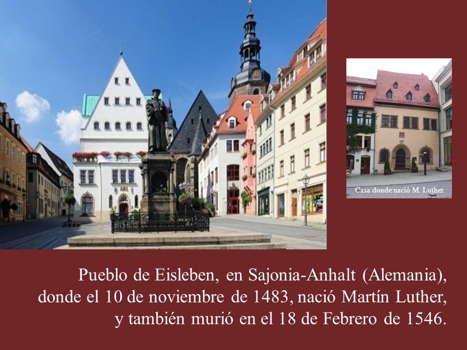 Casa donde nació M. Luther