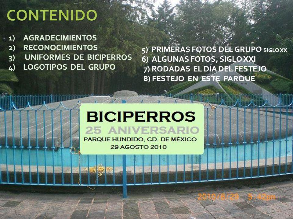 CONTENIDO AGRADECIMIENTOS RECONOCIMIENTOS UNIFORMES DE BICIPERROS