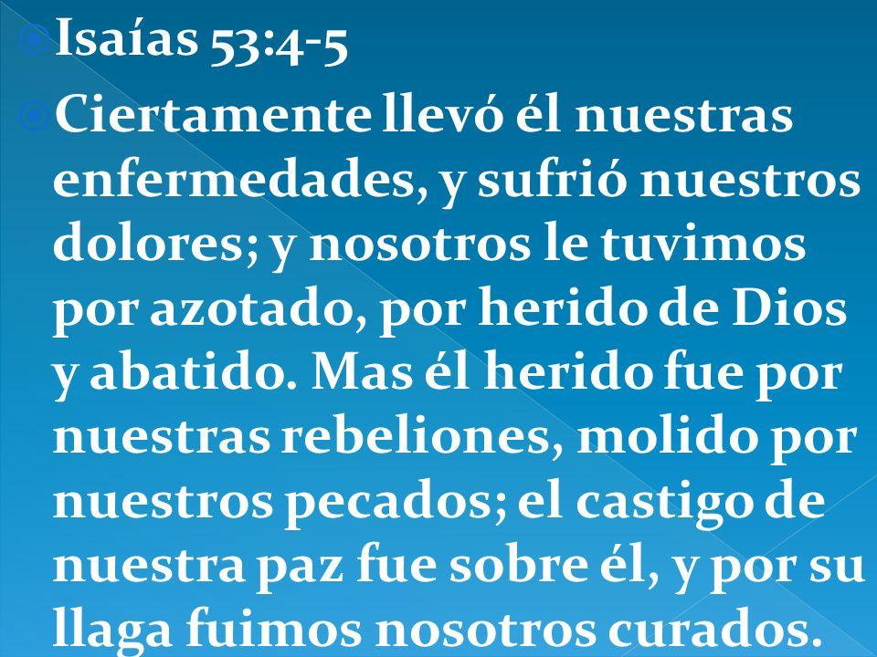 Isaías 53:4-5
