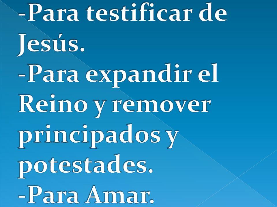 -Para testificar de Jesús