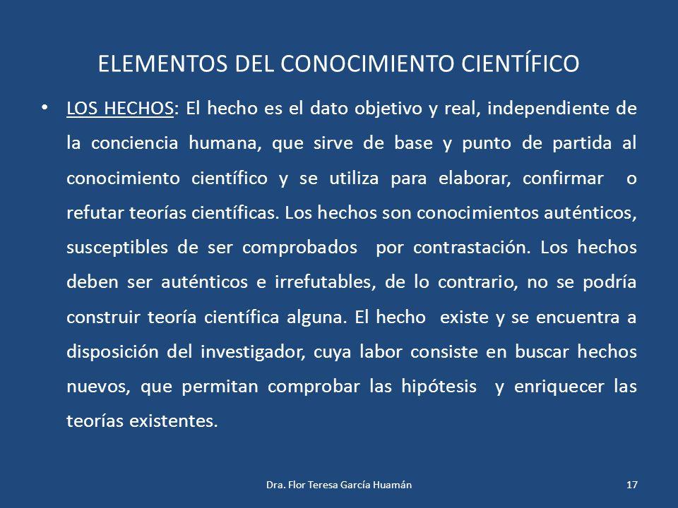 ELEMENTOS DEL CONOCIMIENTO CIENTÍFICO