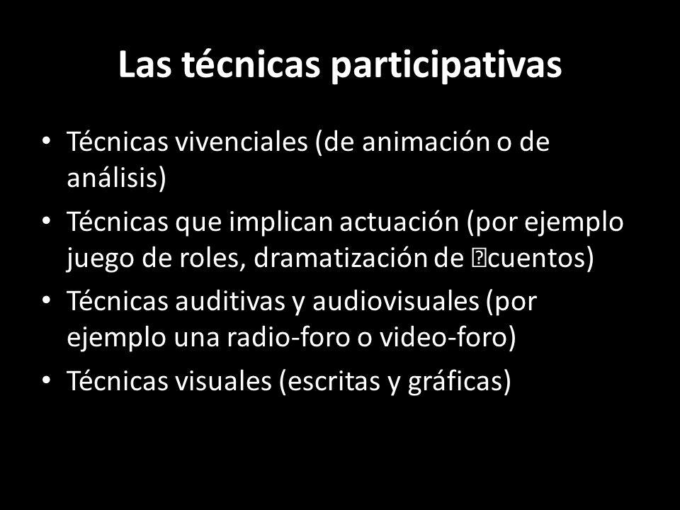 Las técnicas participativas