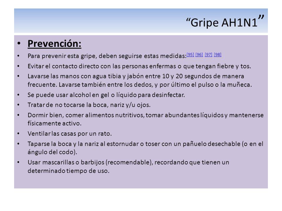 Gripe AH1N1 Prevención: