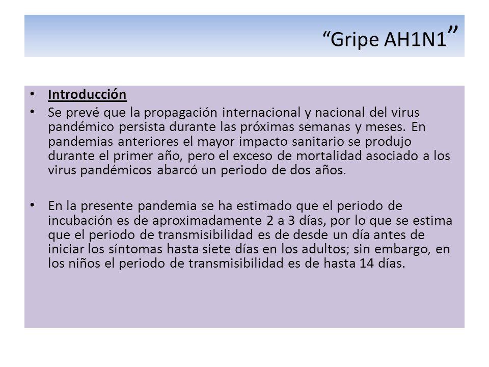 Gripe AH1N1 Introducción
