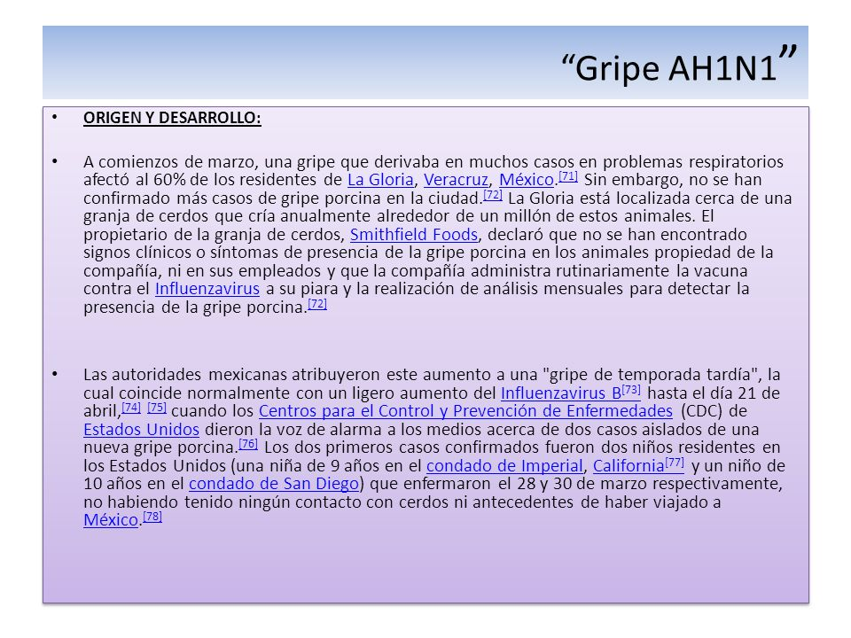 Gripe AH1N1 ORIGEN Y DESARROLLO: