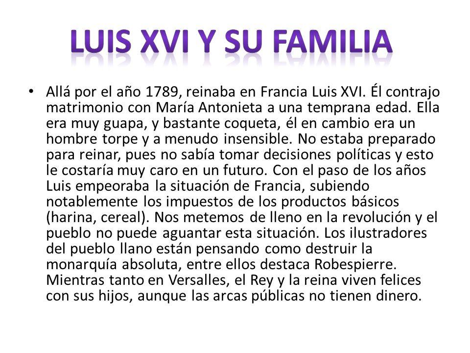 LUIS XVI Y SU FAMILIA