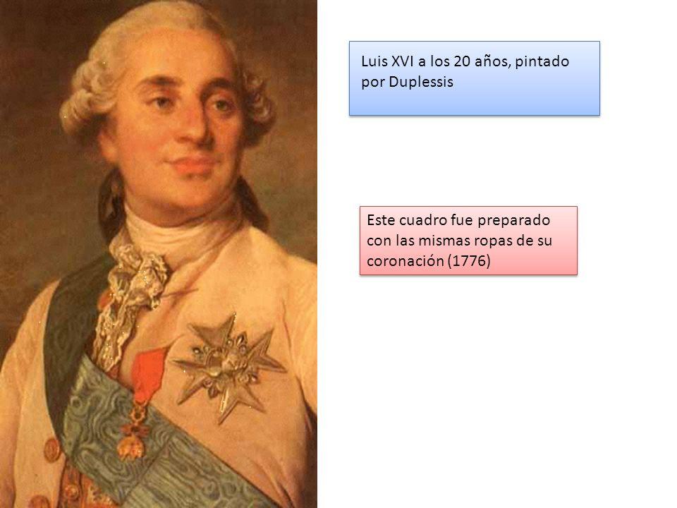 Luis XVI a los 20 años, pintado por Duplessis