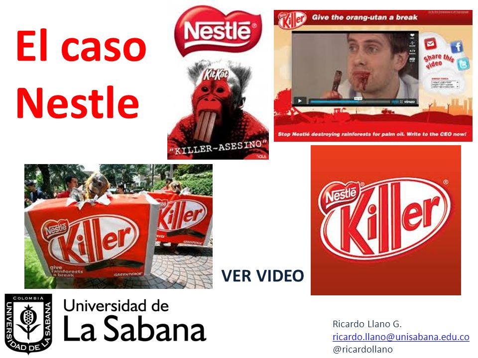 El caso Nestle VER VIDEO Ricardo Llano G.