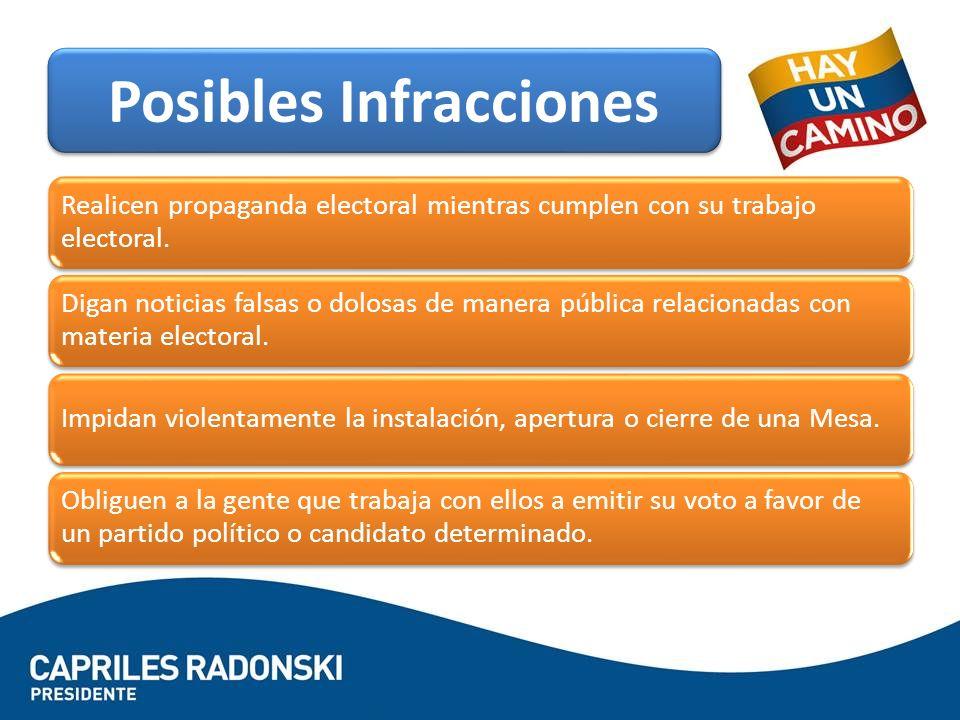 Posibles Infracciones