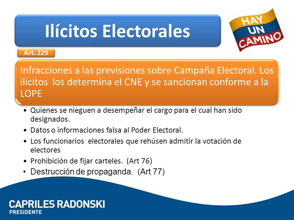 Ilícitos Electorales Art. 229.