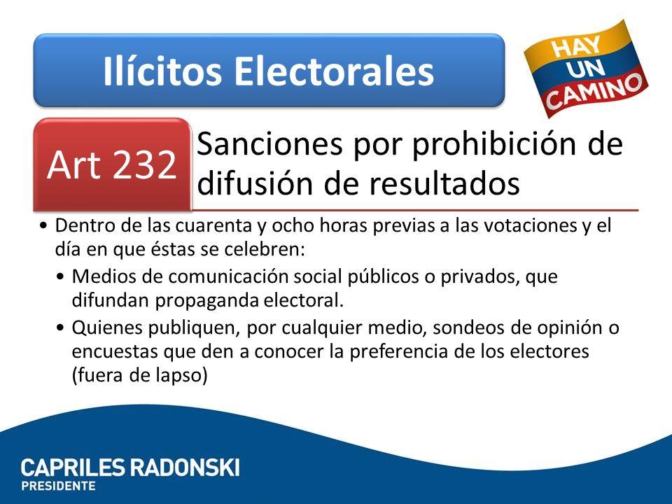 Ilícitos Electorales Art 232