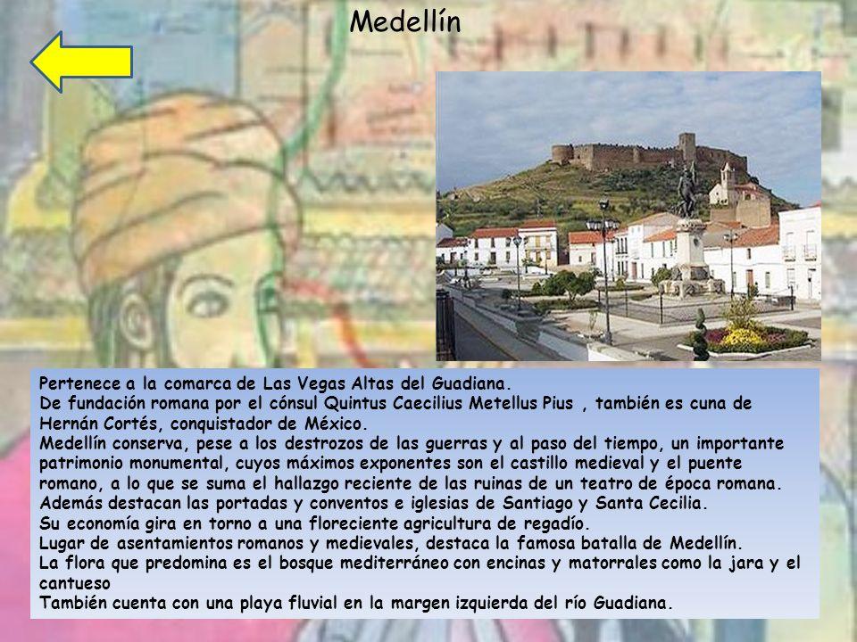 Medellín Pertenece a la comarca de Las Vegas Altas del Guadiana.