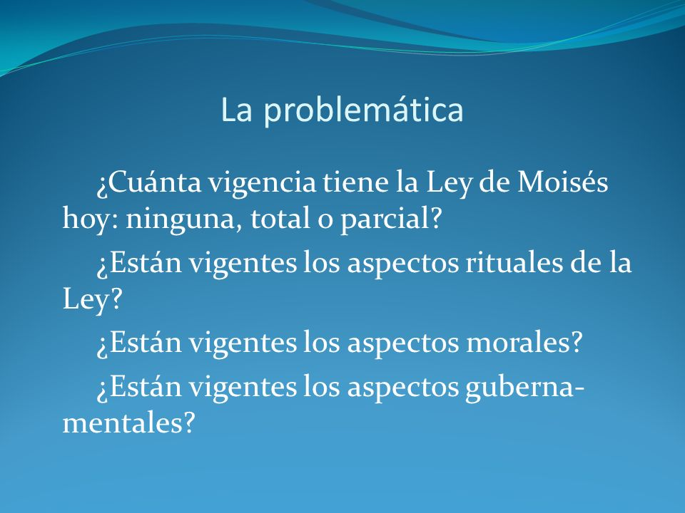 La problemática