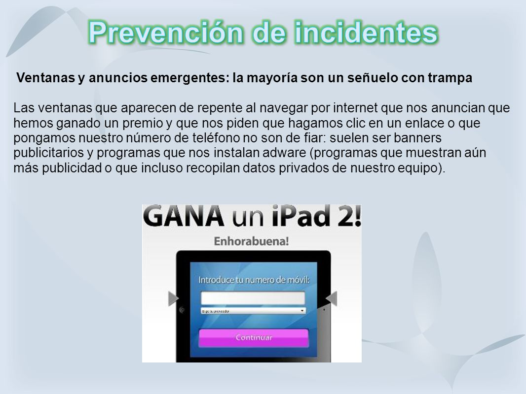 Prevención de incidentes