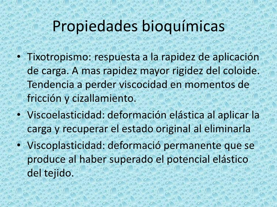 Propiedades bioquímicas
