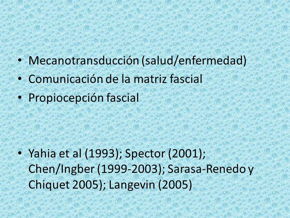 Mecanotransducción (salud/enfermedad)