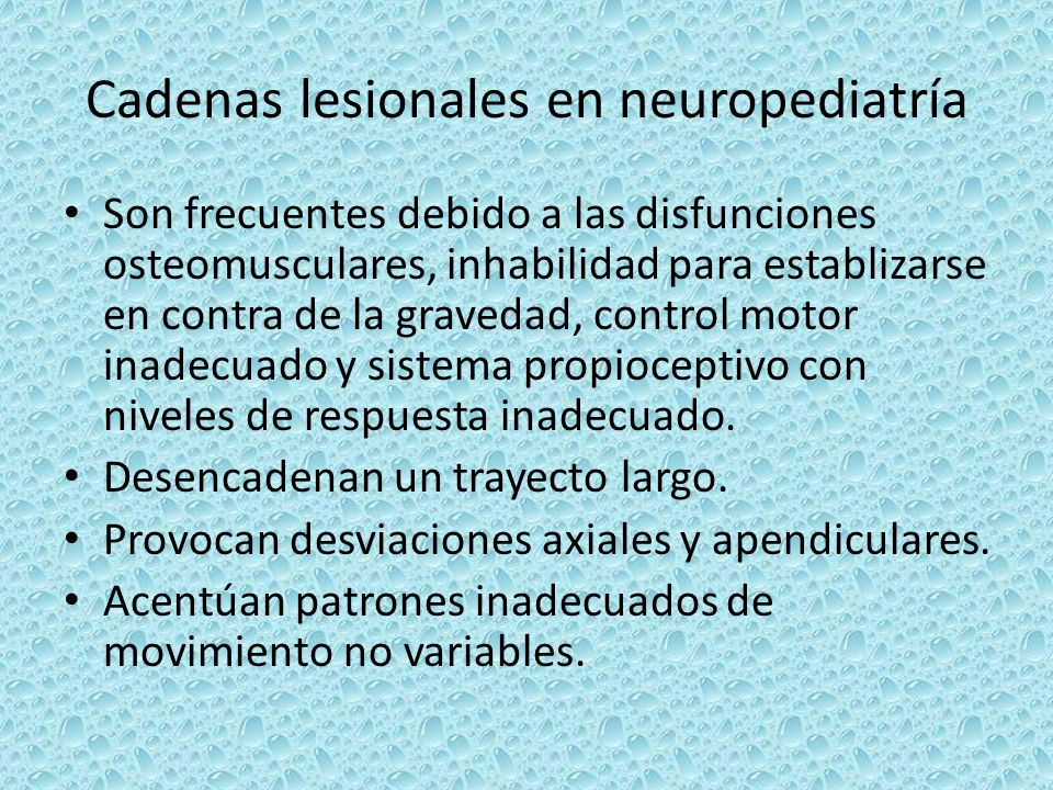 Cadenas lesionales en neuropediatría
