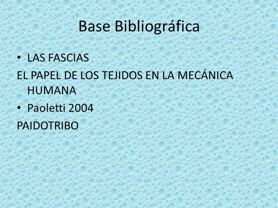 Base Bibliográfica LAS FASCIAS