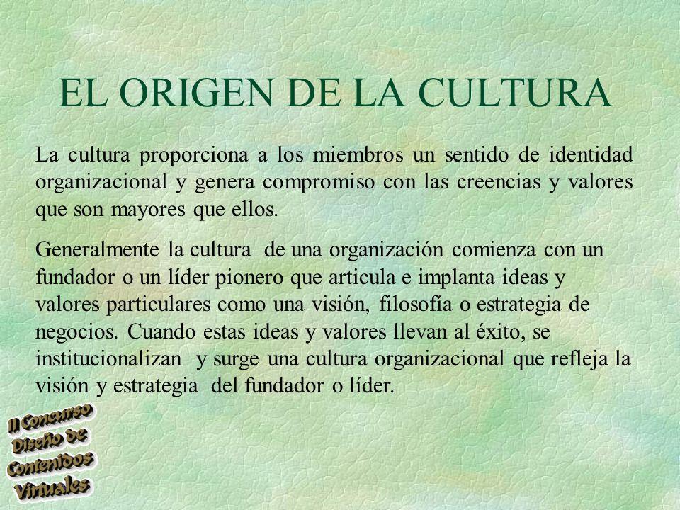 EL ORIGEN DE LA CULTURA