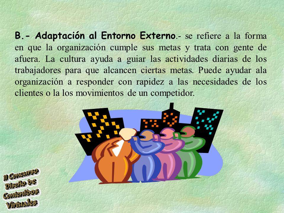 B. - Adaptación al Entorno Externo