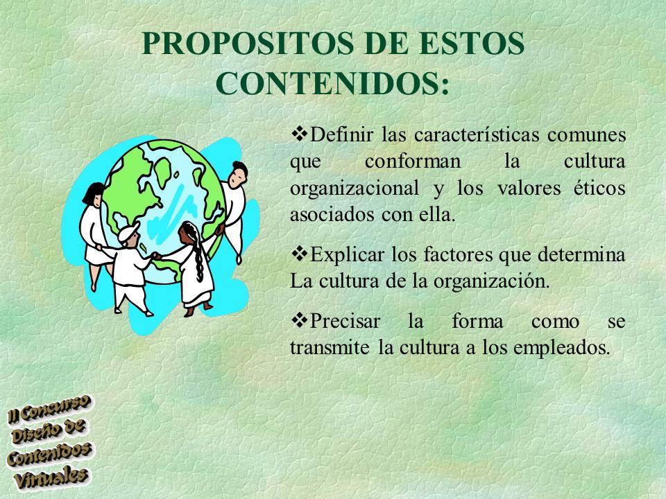 PROPOSITOS DE ESTOS CONTENIDOS: