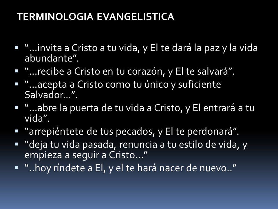 TERMINOLOGIA EVANGELISTICA