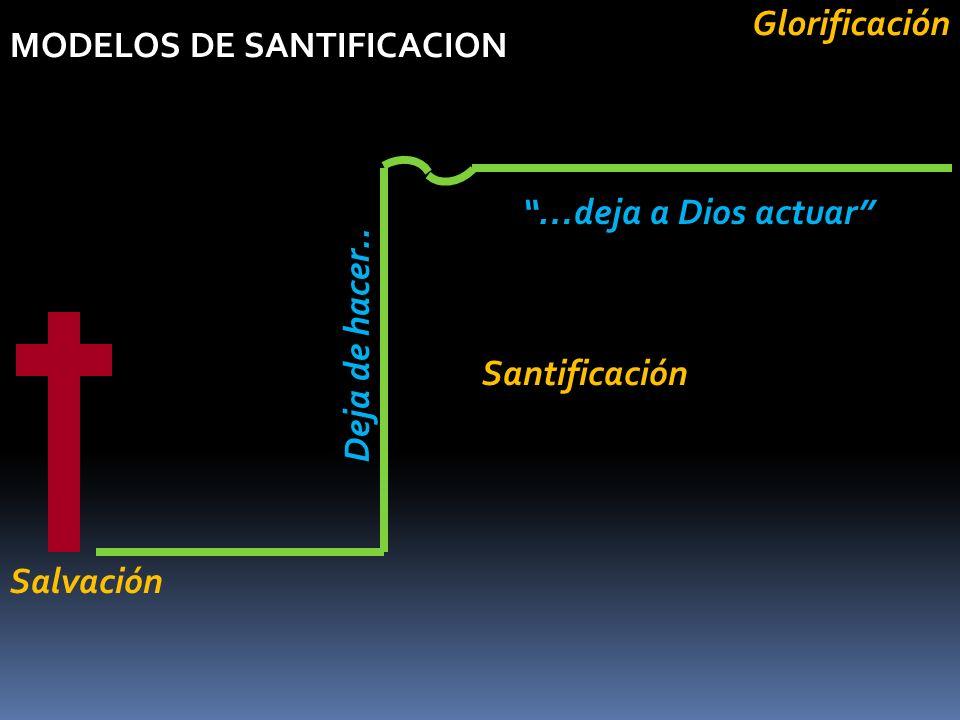 Glorificación MODELOS DE SANTIFICACION. …deja a Dios actuar Deja de hacer..