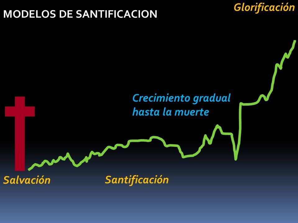 Glorificación MODELOS DE SANTIFICACION Crecimiento gradual hasta la muerte Salvación Santificación