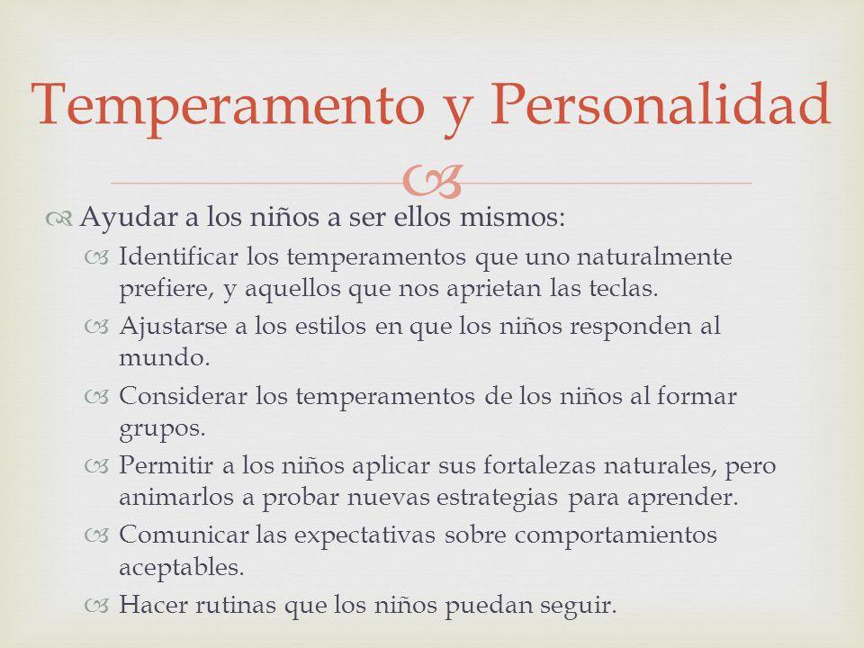 Temperamento y Personalidad