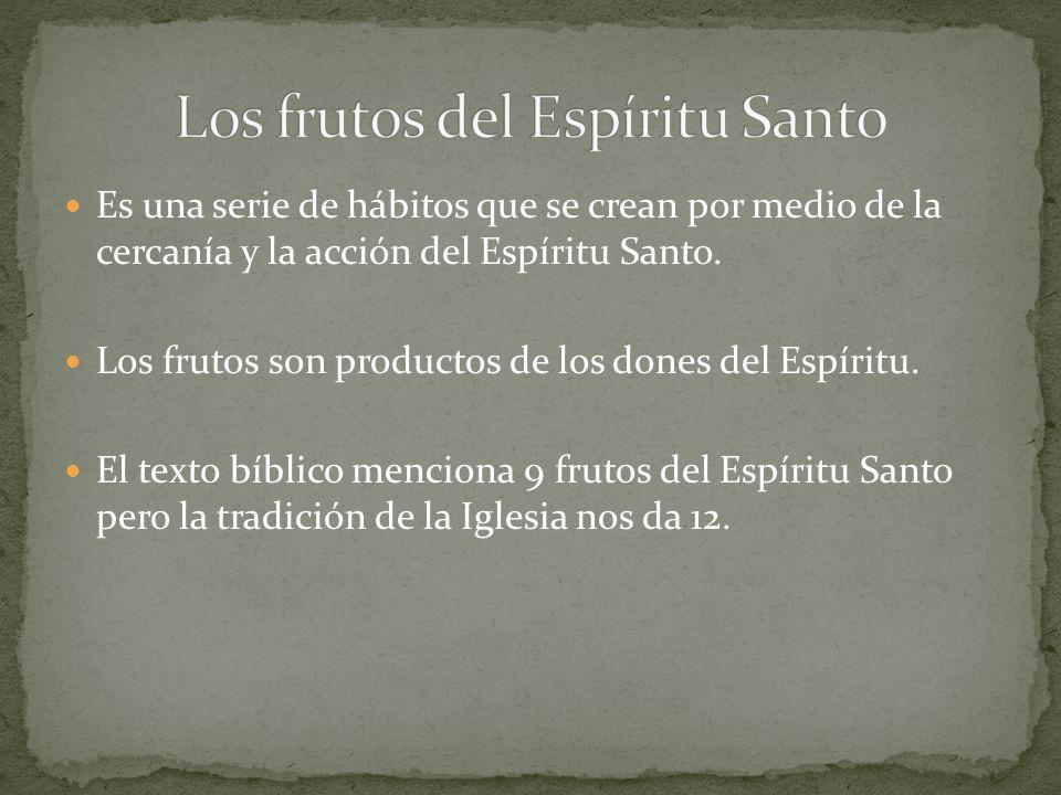 Los frutos del Espíritu Santo